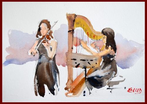 arpa e violino -b