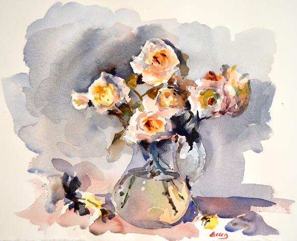 Rosas blancas -b