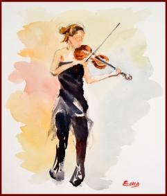 violin f - b