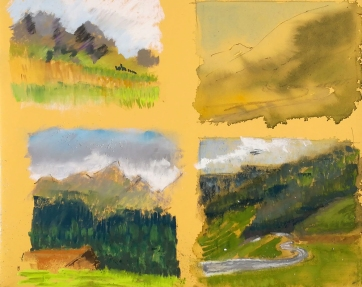 Dolomiti - Studies - Soft Pastel and Watercolour
