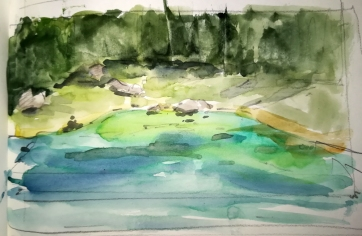 Lago di Carezza - Study - Watercolour