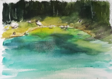 Lago di Carezza - Watercolour